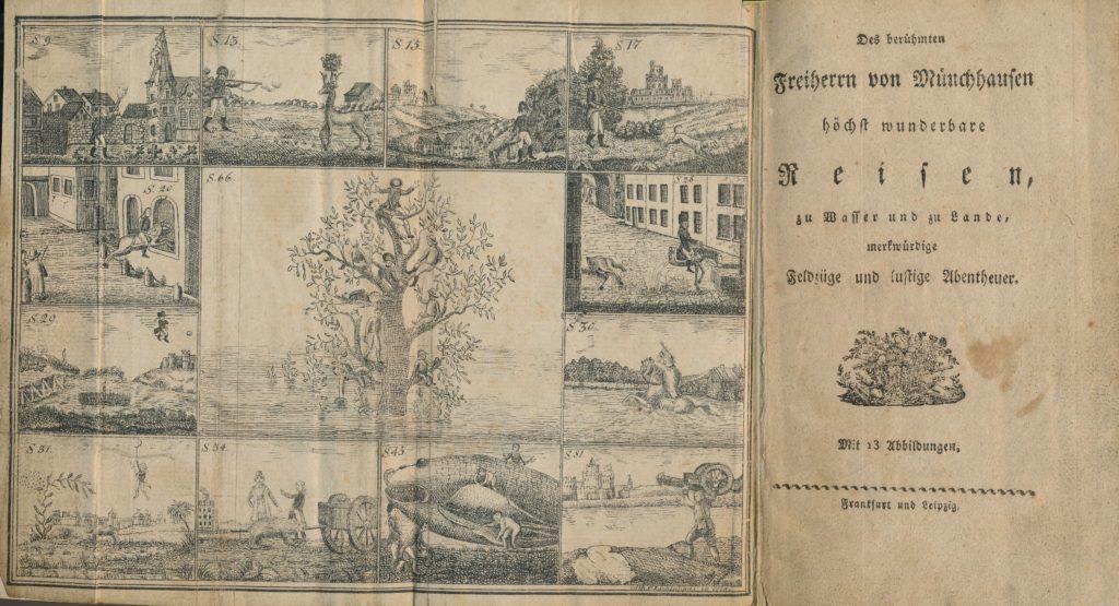 Der älteste bekannte Bilderbogen zum Münchhausen um 1810