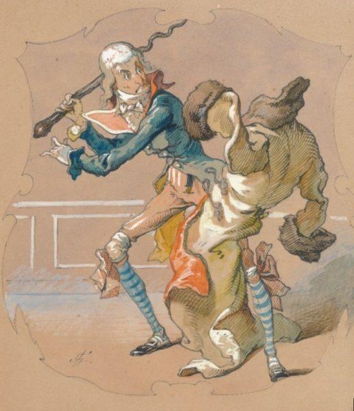 Jean Geoffroy. Münchhausens Kampf gegen den tollwütigen Mantel. 1877